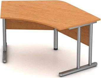Stůl pracovní vykrojený - hnízdo - kovová podnož