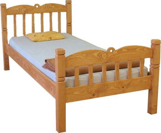Dřevěná postel Classic jednolůžková 3166 OŘECH, 00601