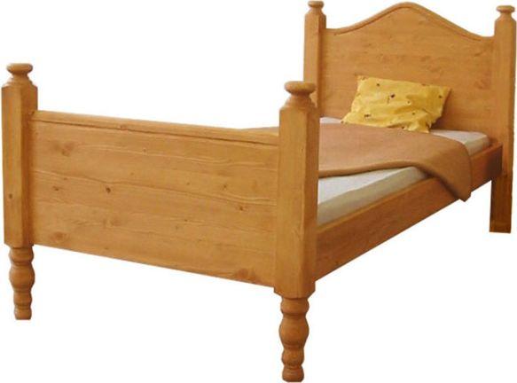 Dřevěná postel Rustical jednolůžková 3166 OŘECH, 00603