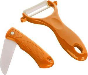 BANQUET 2 dílná sada Culinaria Orange,skládací nůž + škrabka oranžová