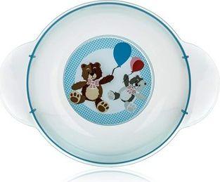 BANQUET Dětský plastový hluboký talíř 208x158x44 mm, barvy v asortu: žlutá, transp.bílá, sv.modrá