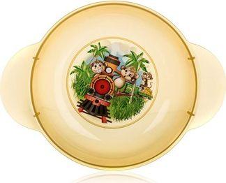 BANQUET Dětský plastový hluboký talíř 208x158x44 mm, motiv: Monkey