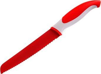 BANQUET Nerezový nůž na chléb s nepřilnavým povrchem 31,5cm Symbio, červený