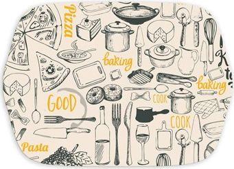 BANQUET Tác s uchy melaminový RETRO KITCHEN 36 x 25,5 x 2 cm