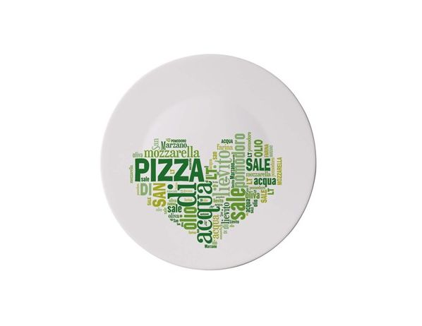 BORMIOLI Talíř PIZZA. 33cm I LOVE PIZZA GREEN