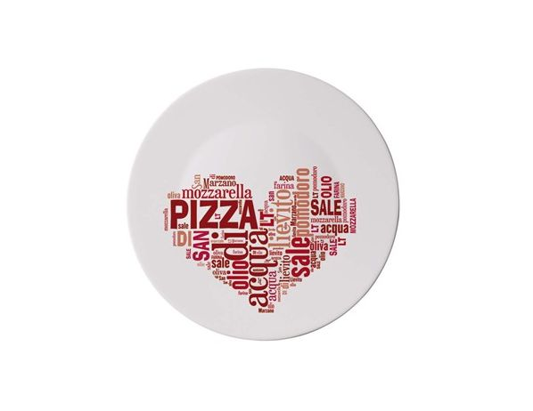 BORMIOLI Talíř PIZZA 33cm I LOVE PIZZA RED