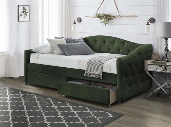 Čalouněná postel ALOHA 90, zelená