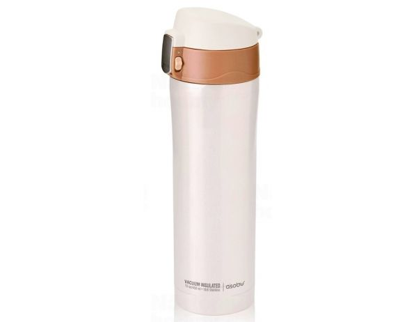 Dámská termoska ASOBU Diva white/brown 450ml