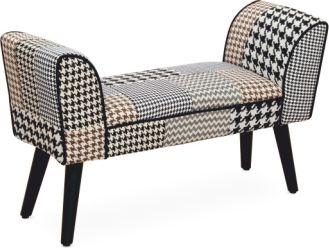 Designová lavice PEPITO Typ 7, vzorovaná látka