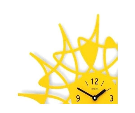 Designové hodiny D&D 305 Meridiana, stříbrný lak