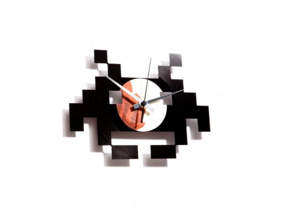 Designové nástěnné hodiny Discoclock 028 Space invaders 30cm
