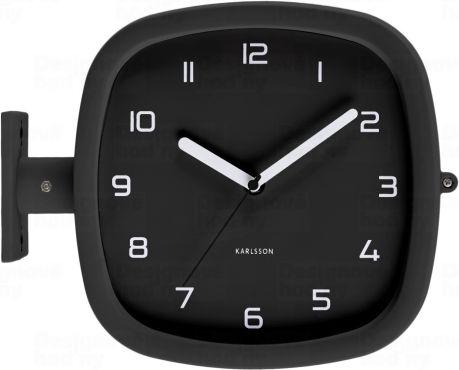 Designové oboustranné nástěnné hodiny 5831BK Karlsson 29cm