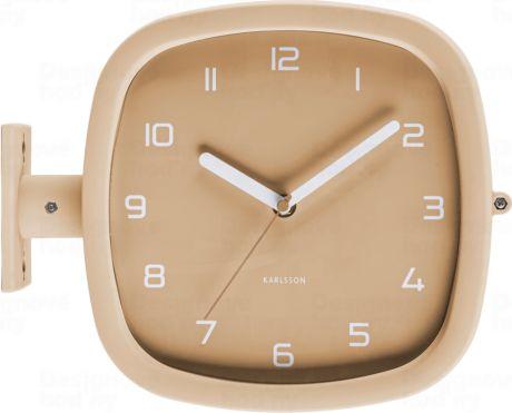 Designové oboustranné nástěnné hodiny 5831BR Karlsson 29cm