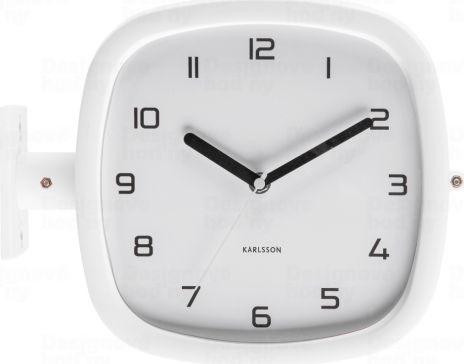 Designové oboustranné nástěnné hodiny 5831WH Karlsson 29cm