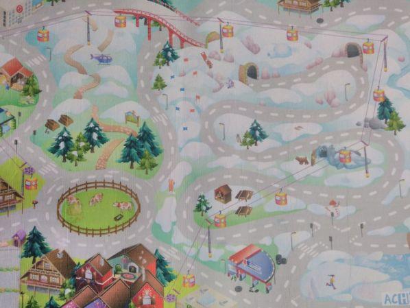 Dětský koberec Hrací koberec Zasněžené město 3003000