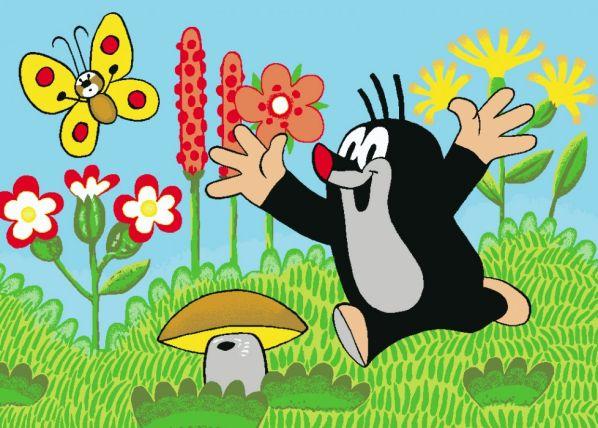 Dětský koberec Krteček a motýl 01
