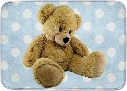 Dětský koberec Ultra Soft Medvídek modrý