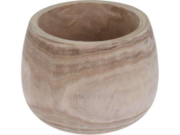 Dřevěná nádoba/květináč, široká