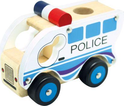 Dřevěné auto policie