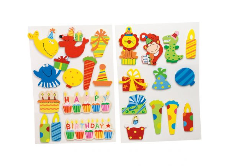 Dřevěné narozeninové nálepky