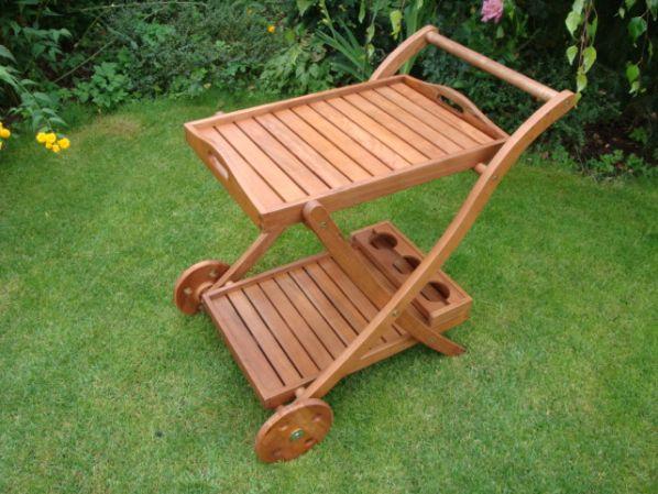 Dřevěný servírovací stolek AD 06053A