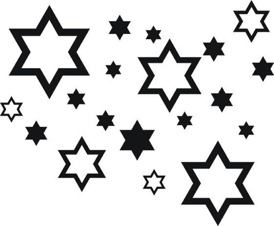 Samolepící dekorace Hvězdy