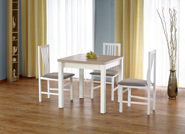 Jídelní stůl Gracjan, sonoma-bílý
