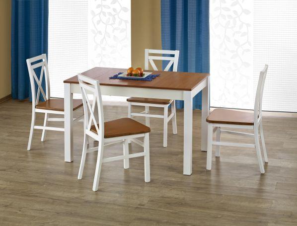 Jídelní stůl Ksawery, bílý-olše