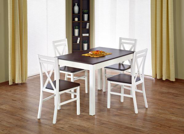 Jídelní stůl Maurycy, bílý-ořech
