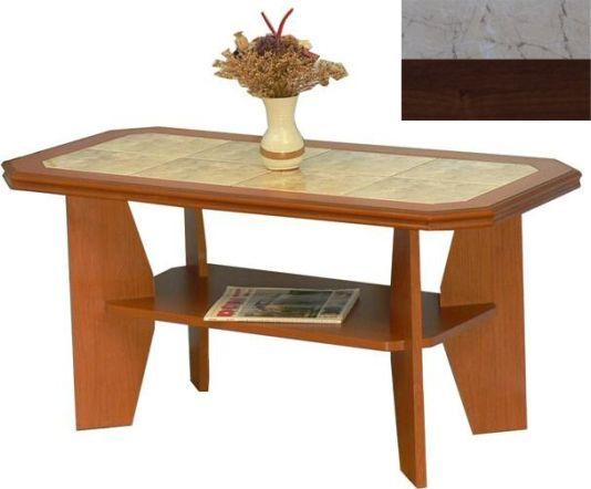 Konferenční stolek 8 dlažba pískovec, lamino ořech
