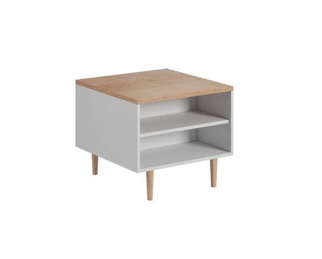 Konferenční stolek Literie, bílá / buk pískový