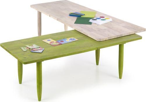 Fotografie Konferenční stolek Bora-Bora, zeleno-bílá