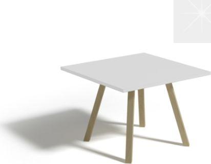 Konferenční stůl ALAN 80, bílý lesk