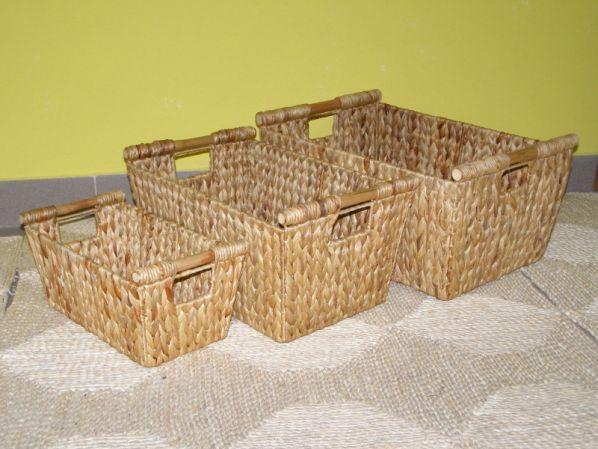 Koš - vodní hyacint - sada 3 kusů