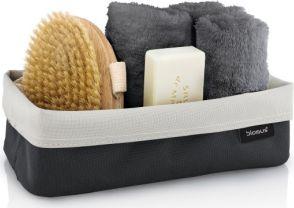Košík na kosmetiku ARA 12x24cm šedý/pískový