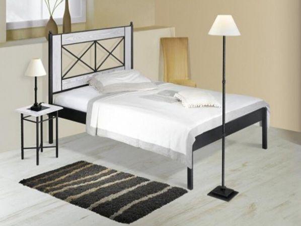 Kovová postel CHAMONIX 0465 s masivními prvky