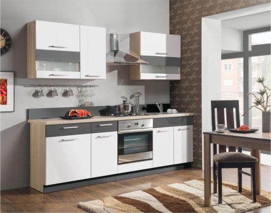 Kuchyňská linka Modena 240 cm - bílý lesk