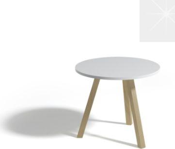 Kulatý konferenční stůl ALAN 60, bílý lesk