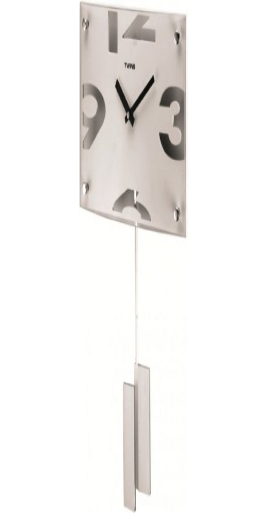 Nástěnné kyvadlové hodiny Twins 5090 white 30cm DESIGNOVÉ HODINY