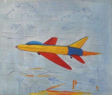 Obraz - Barevné letadlo