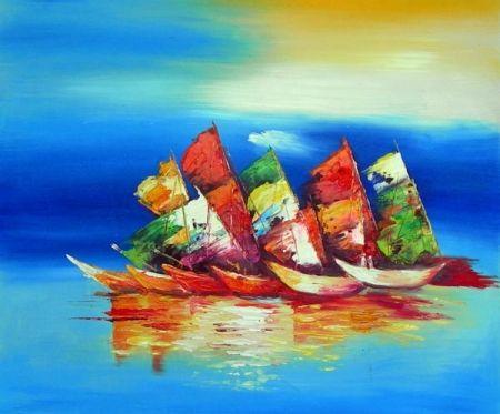 Obraz - Barevné lodě