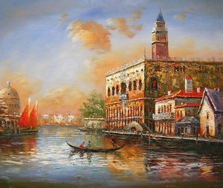 Obraz - Benátky při úsvitu