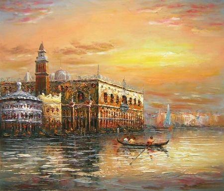 Obraz - Benátky v západu slunce