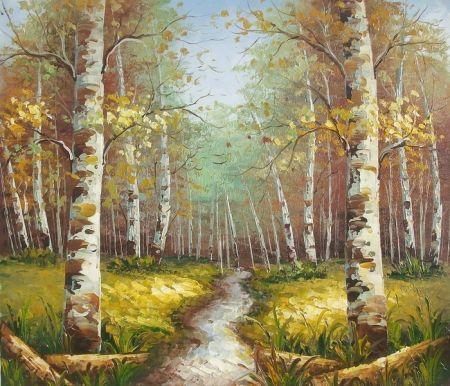 Obraz - Březový les