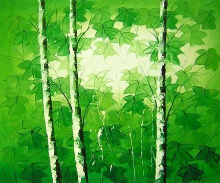 Obraz - Břízky zelené