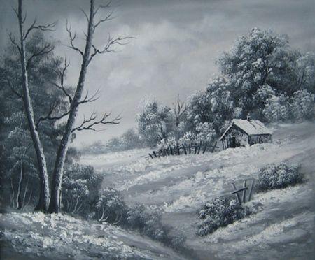 Obraz - Černo-bílá krajina
