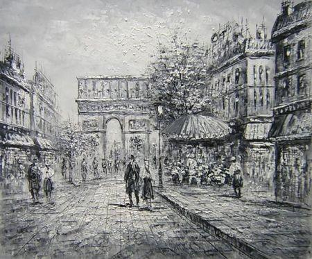 Obraz - Černobílá Paříž