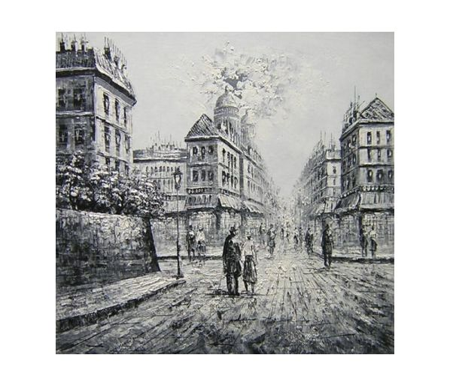 Obraz - Černobílá ulice