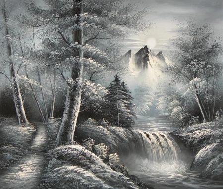 Obraz - Černobílá vichřice