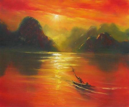 Obraz - Červánky na jezeře